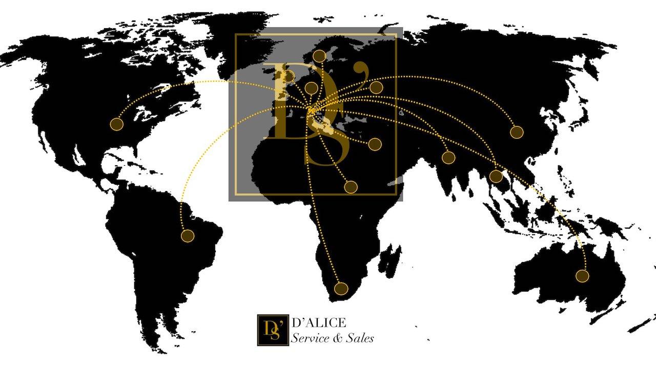 D'Alice Servivce & Sales World Map